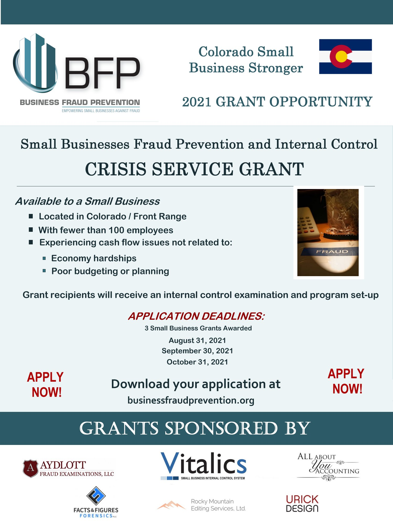 Small Business Internal Control Grant